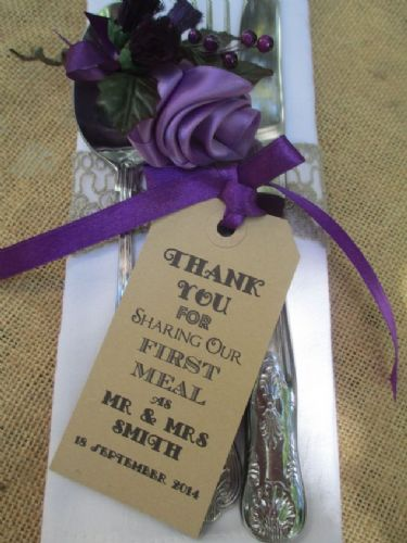 THANK YOU FOR SHARING OUR FIRST MEAL NAME PLACE LUGGAGE TAGS
